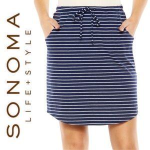 🆕 Striped Lounge Skirt SONOMA Navy Grey